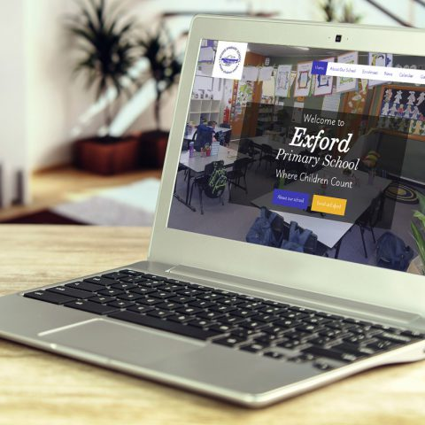 Exford Primary School website design and development by Double-E Design