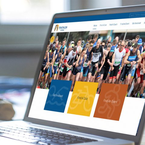 Triathlon Victoria website design and development by Double-E Design