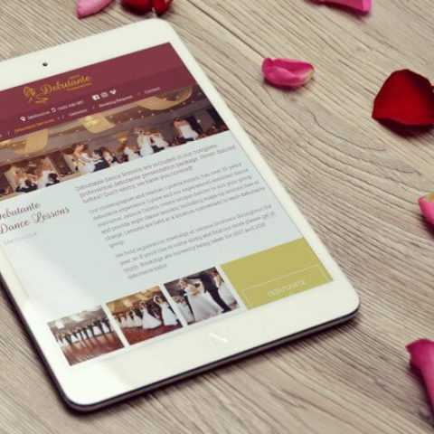 Lynriz Debutante Presentations website design and development by Double-E Design