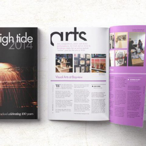 Double-E Design Portfolio - High Tide magazine for Williamstown High School